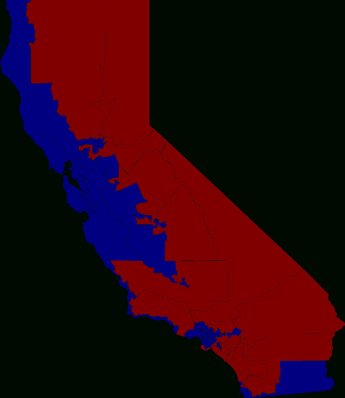 2010 United States House Of Representatives Elections In with regard to California Election Map 2016
