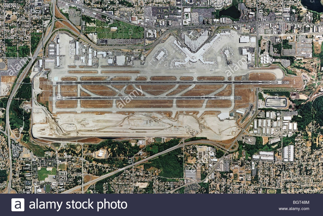 Aerial Map View Above Boeing Field King County International pertaining to Boeing Factory Seattle Map