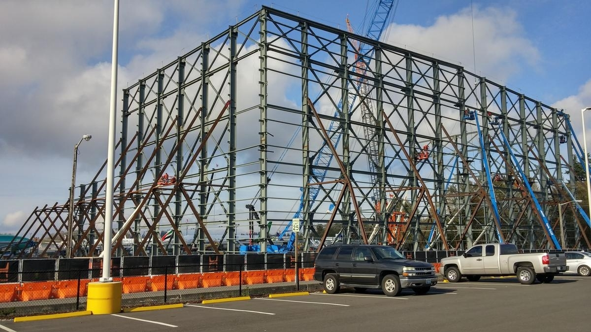 Another Huge Building Under Construction On Boeing's Everett inside Boeing Everett Factory Google Maps