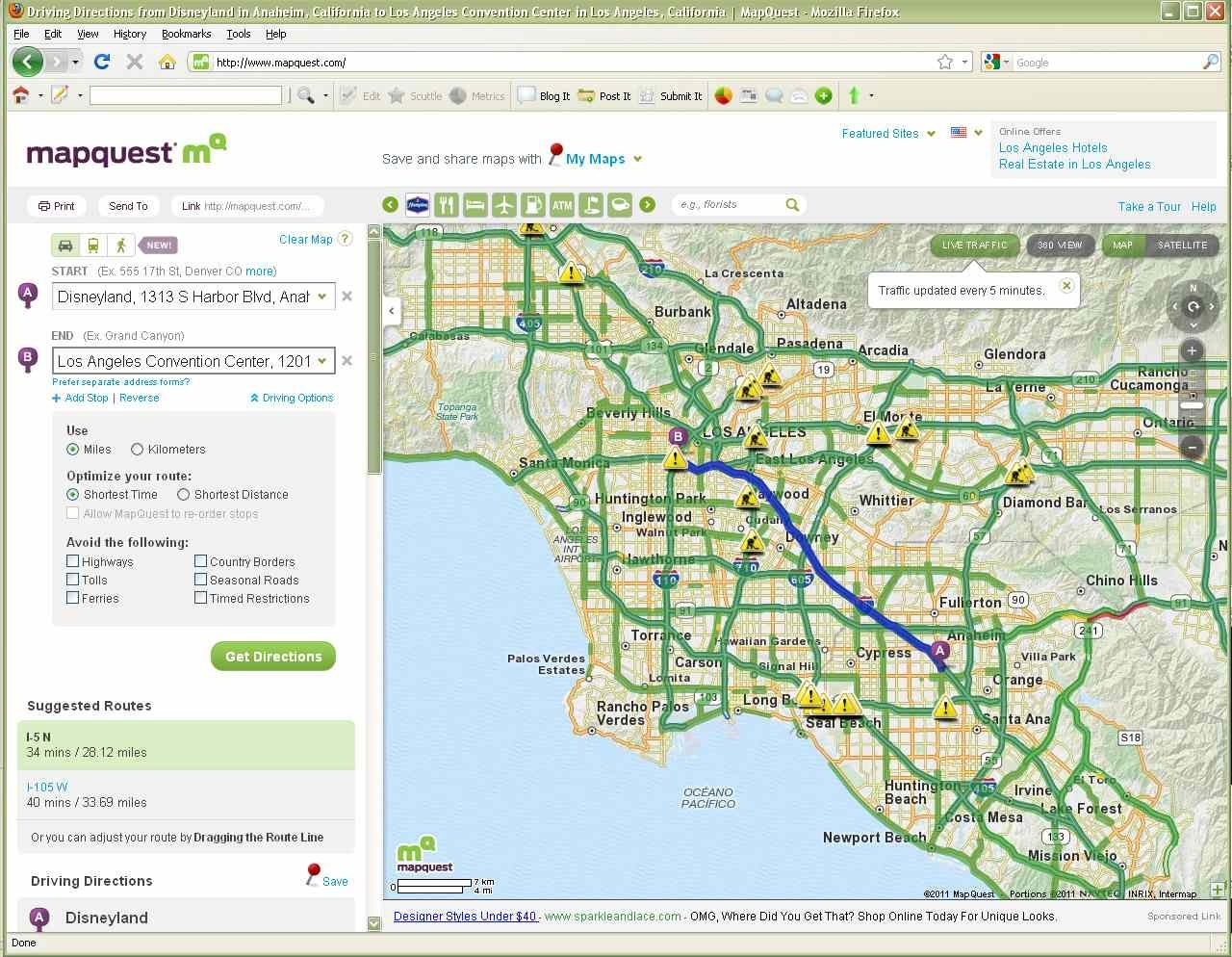 Best Los Angeles Traffic Maps And Directions for Traffic Map Los Angeles