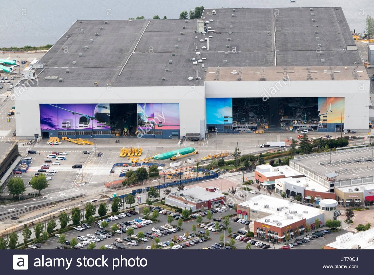 Boeing Factory Stock Photos & Boeing Factory Stock Images within Boeing Renton Facility Map