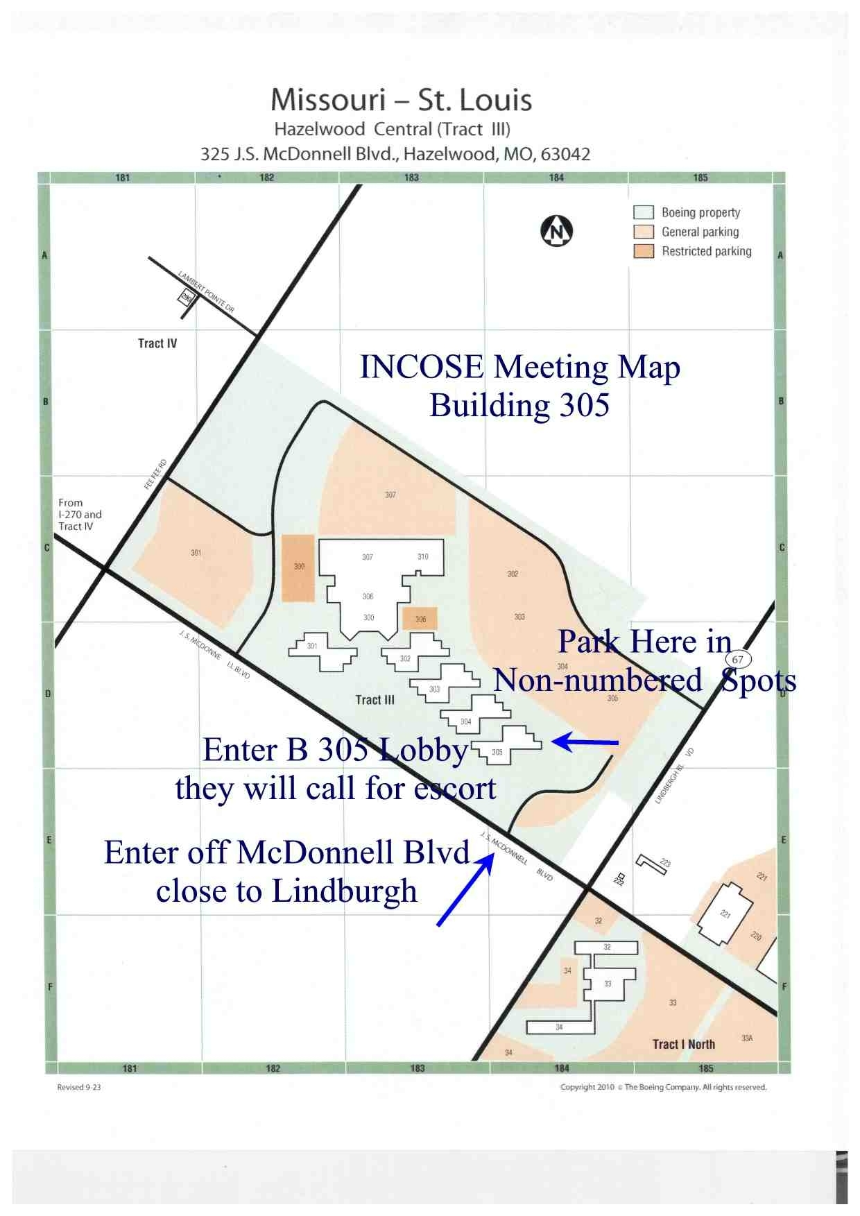 Boeing St Louis Campus Map   Campus Map intended for Boeing Facility Map