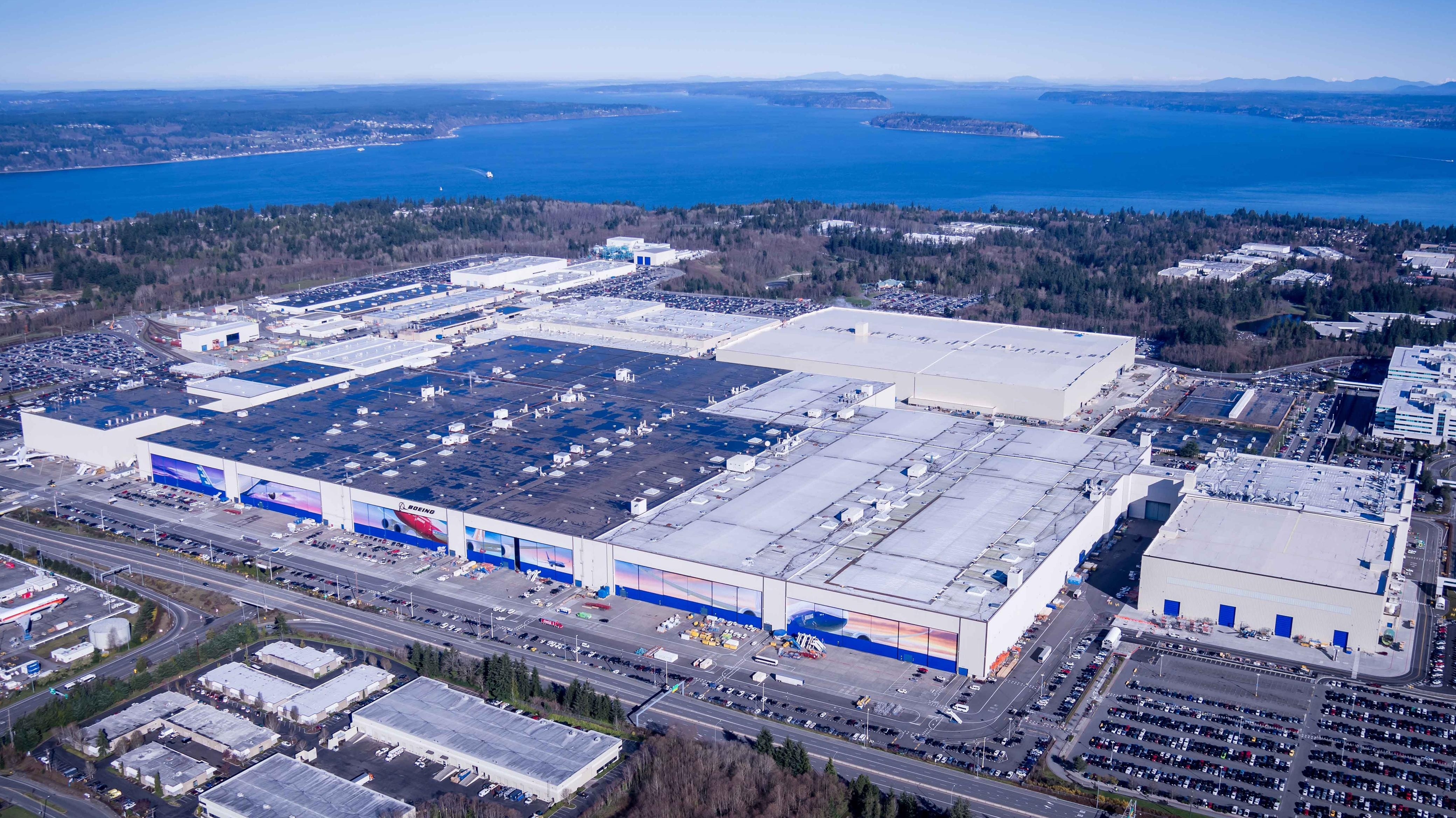 Boeing's Everett Factory Complex Is The Biggest Building In pertaining to Boeing Everett Factory Site Map