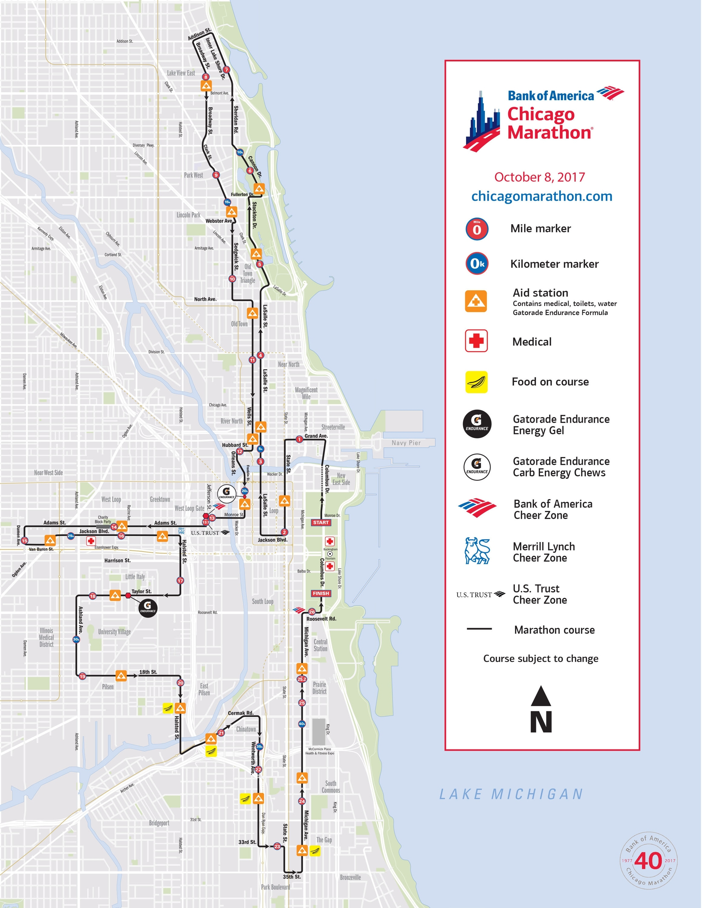 Chicago Marathon 2017: Here's What You Need To Know within Chicago Marathon Google Map