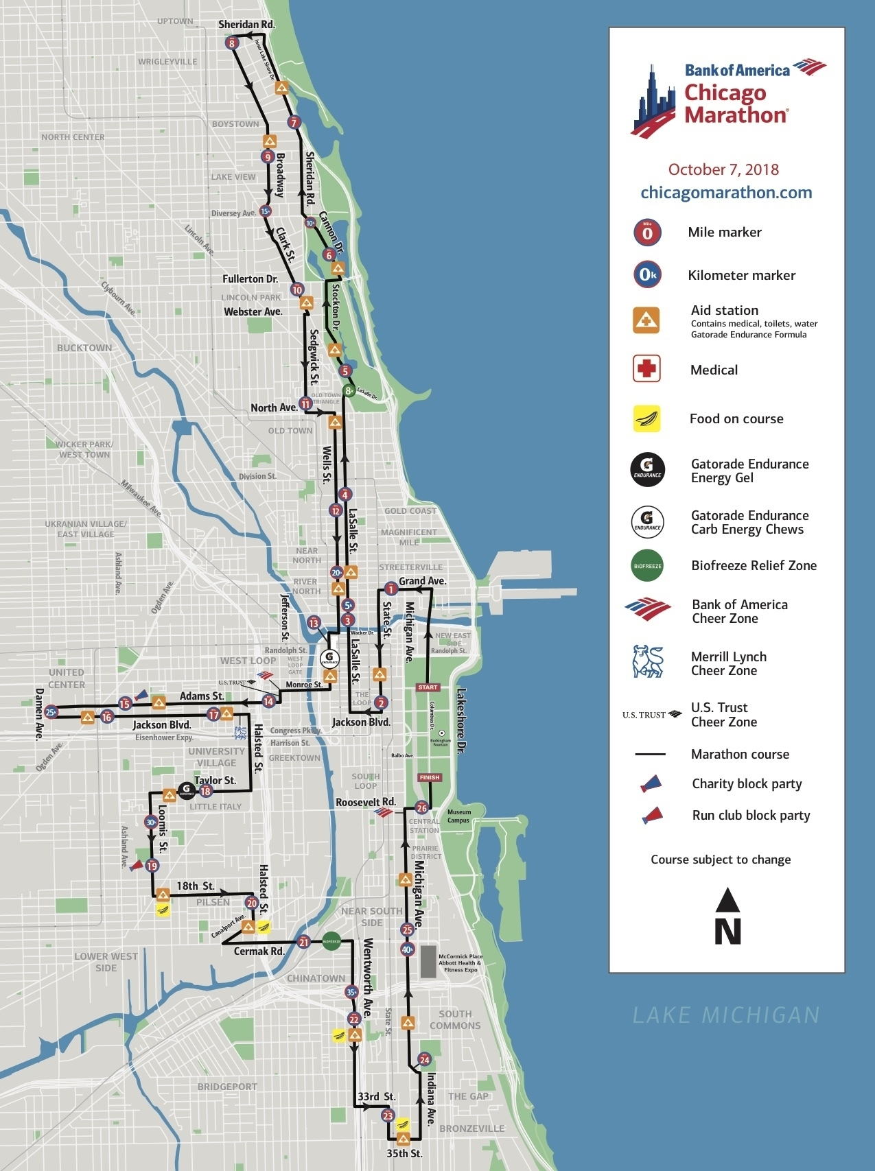 Chicago Marathon 2018: Here's What You Need To Know with regard to Bank Of America Chicago Marathon 2019 Street Closures Map