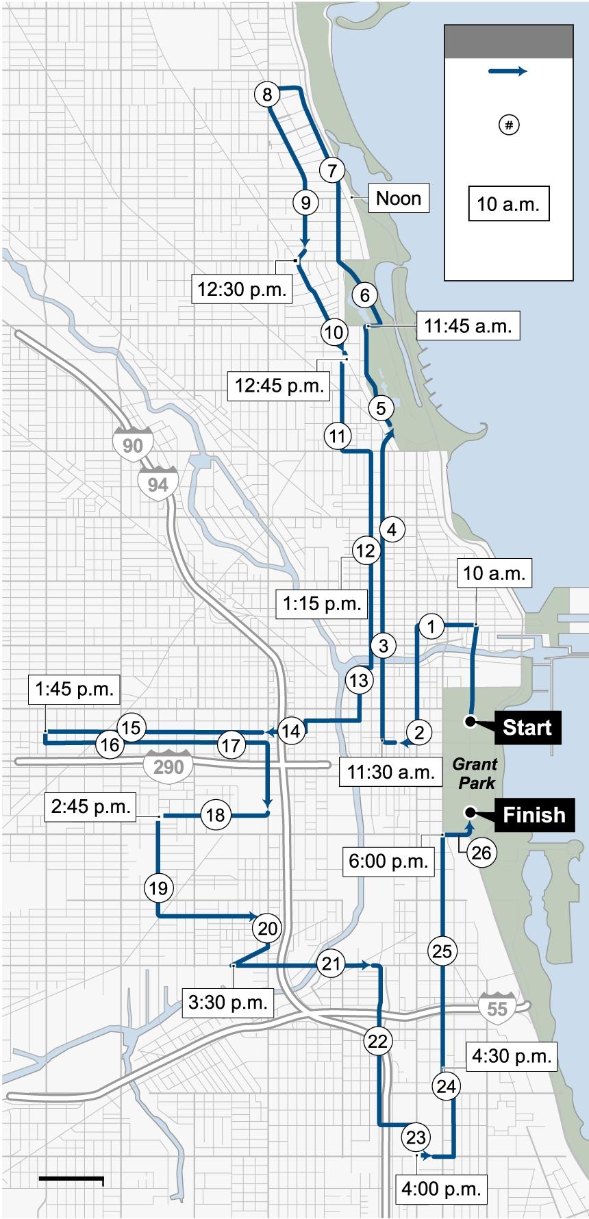 Chicago Marathon 2019: Course Map, Where To Watch The Race inside Chicago Marathon Map 2019