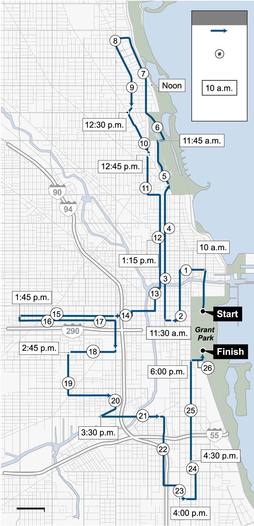 Chicago Marathon 2019: Course Map, Where To Watch The Race with Chicago Marathon 2019 Route Map