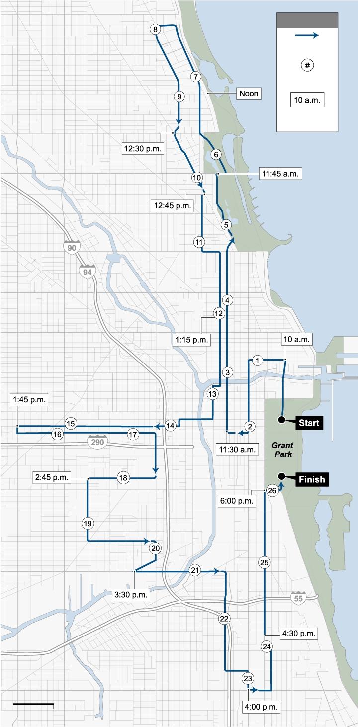 Chicago Marathon Elevation Map   Map Of Garden within Garmin Map Chicago Marthon 2019
