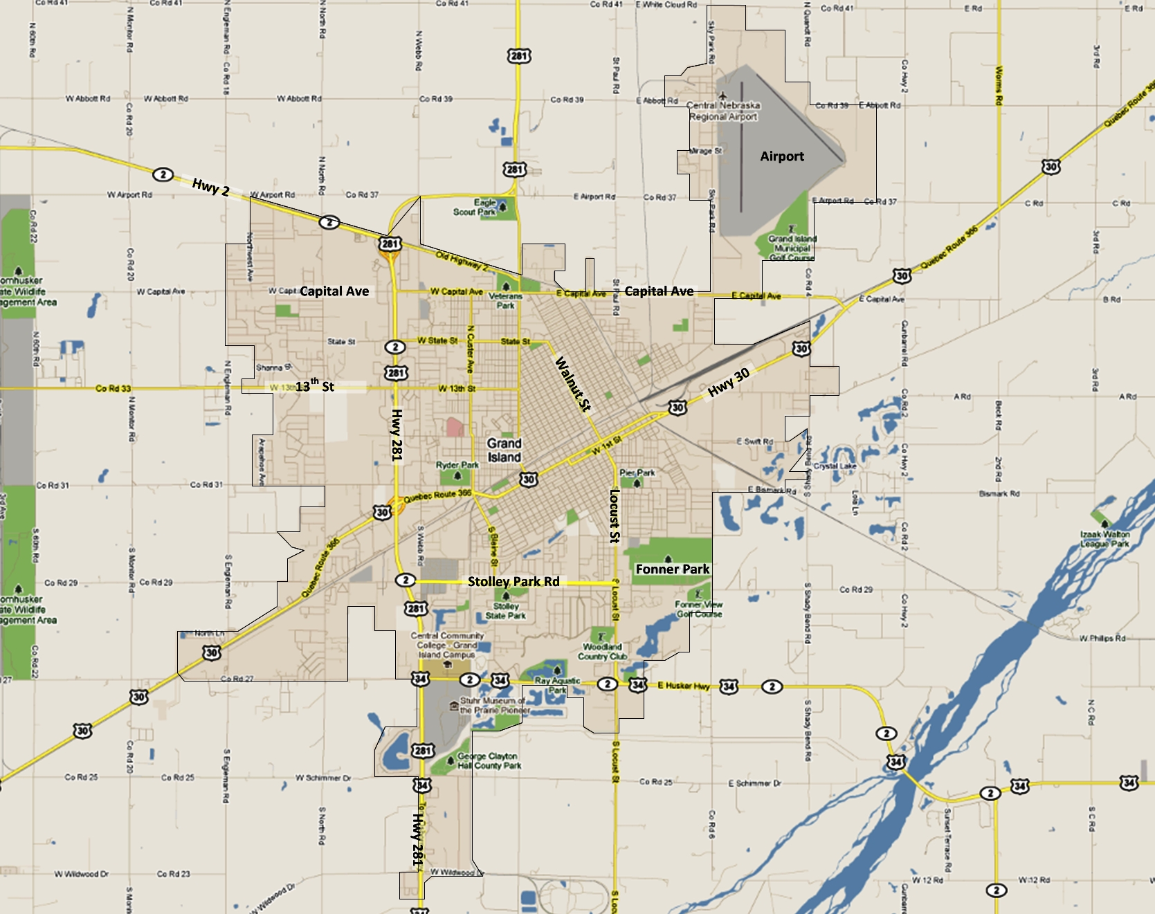 City Of Grand Island, Ne for City Map Of Grand Island Ne