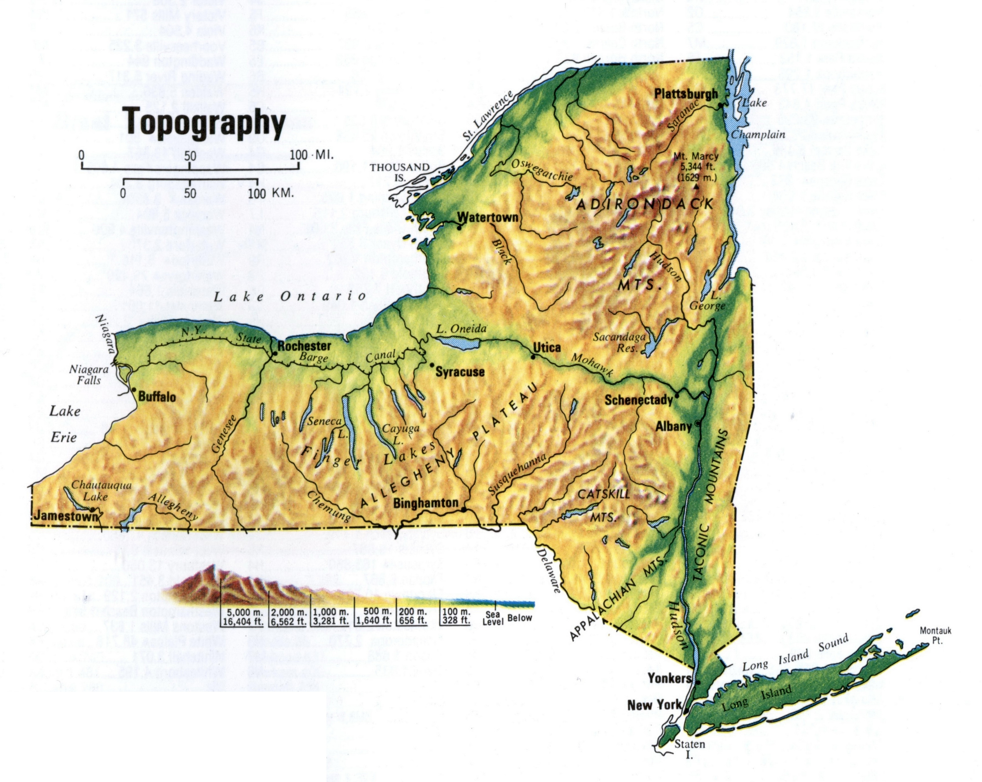 Detailed Topographic Map Of New York State. New York State for Ny State Topo