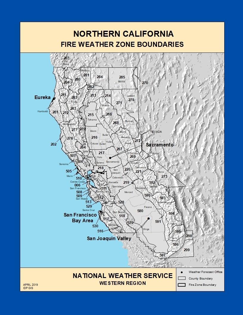 Fire Zone Maps in Fire Zone Maps California