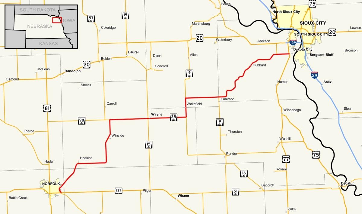 Google Map Of Norfolk Nebraska | Download Them And Print inside Googlemap Norfolk Nebraska