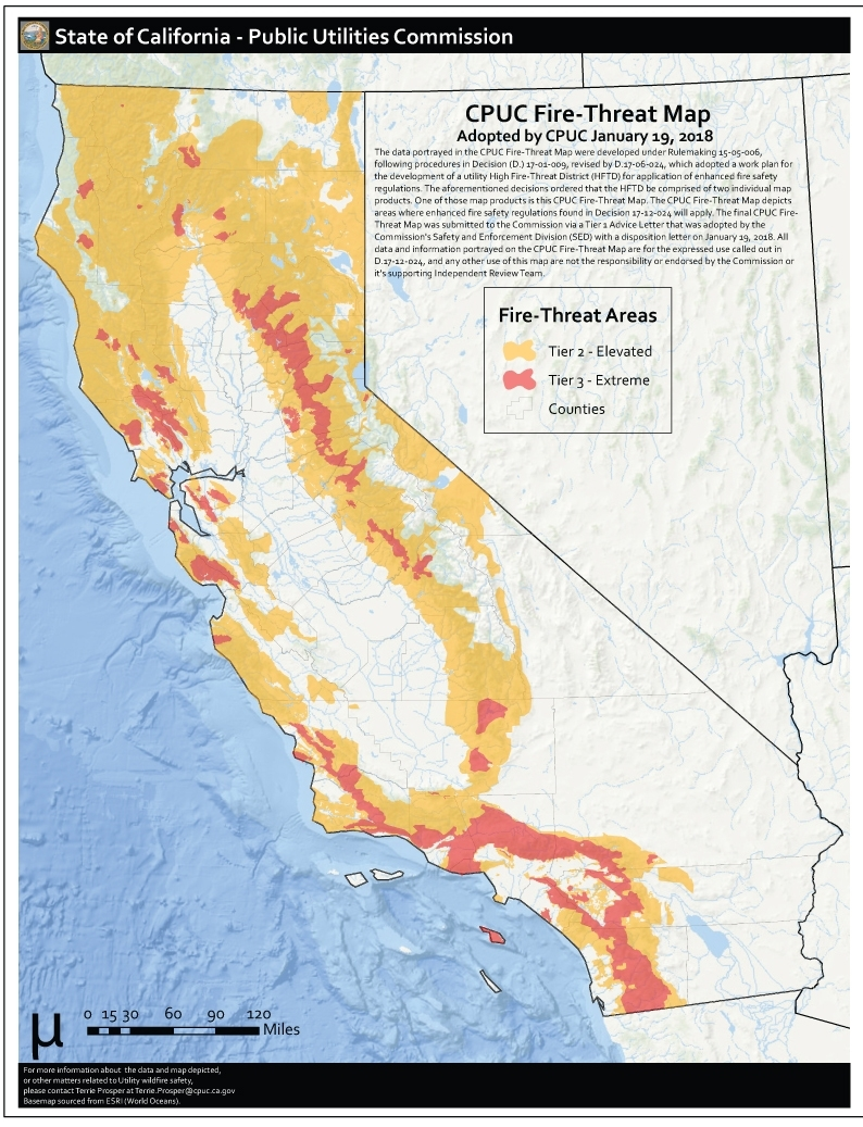 Here Is Where Extreme Fire-Threat Areas Overlap Heavily for What Towns Are Affected By California Fires