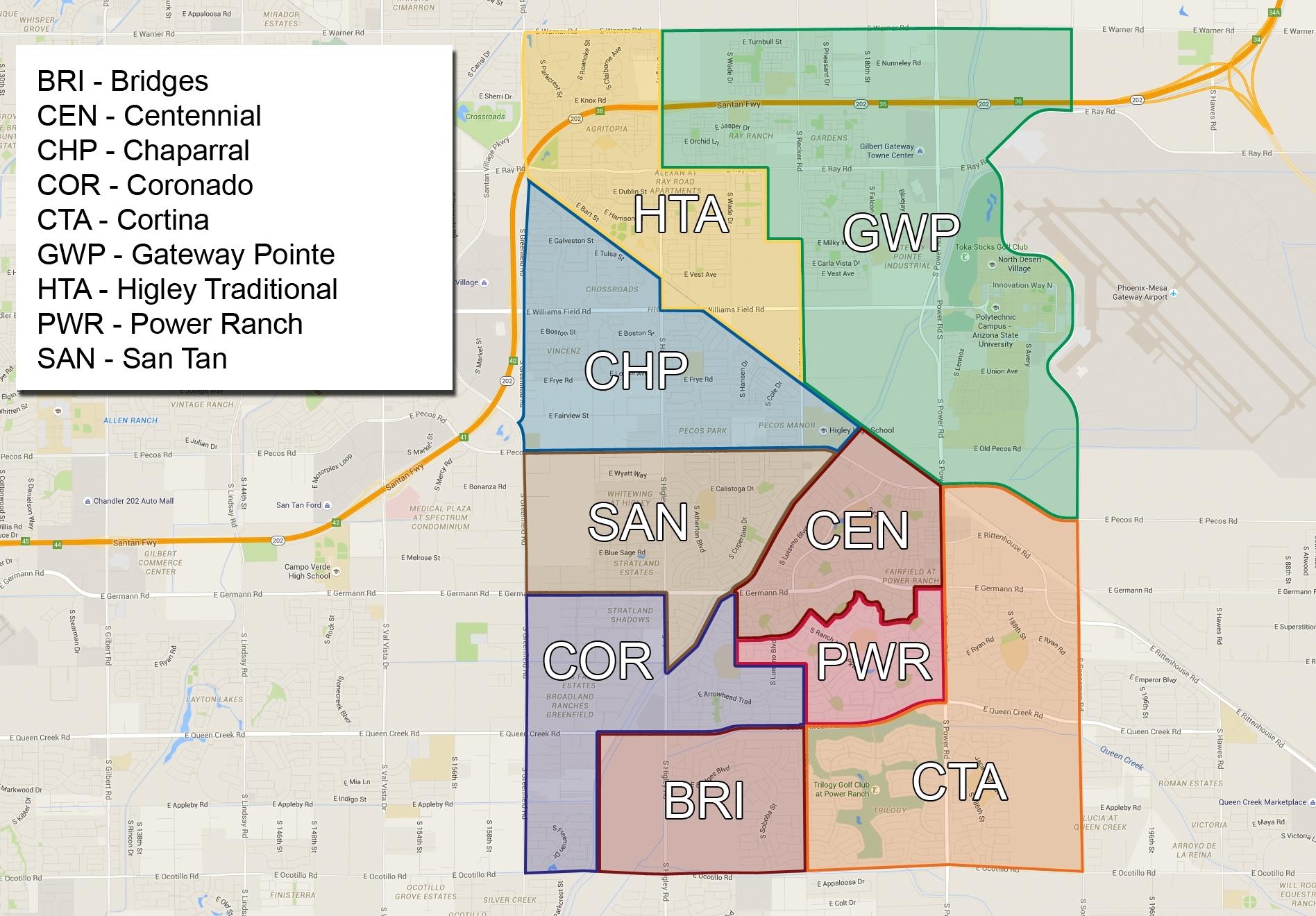Higley Az Unified School District 2019 - 2020 School pertaining to School District Boundaries