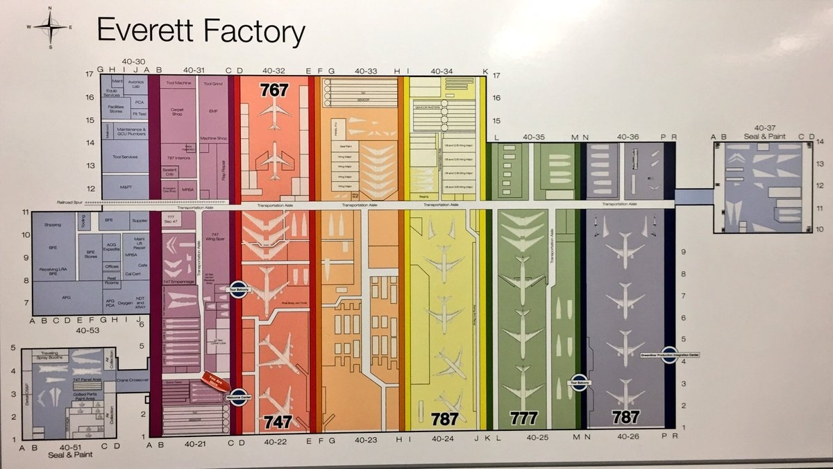 """Jon Ostrower On Twitter: """"the Yellow Factory Bay Is The New in Boeing Factory Tour Map"""