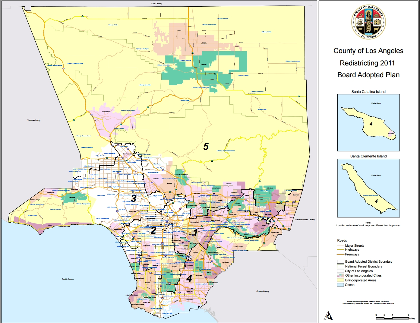 La County Line Map And Travel Information   Download Free La pertaining to La County Line