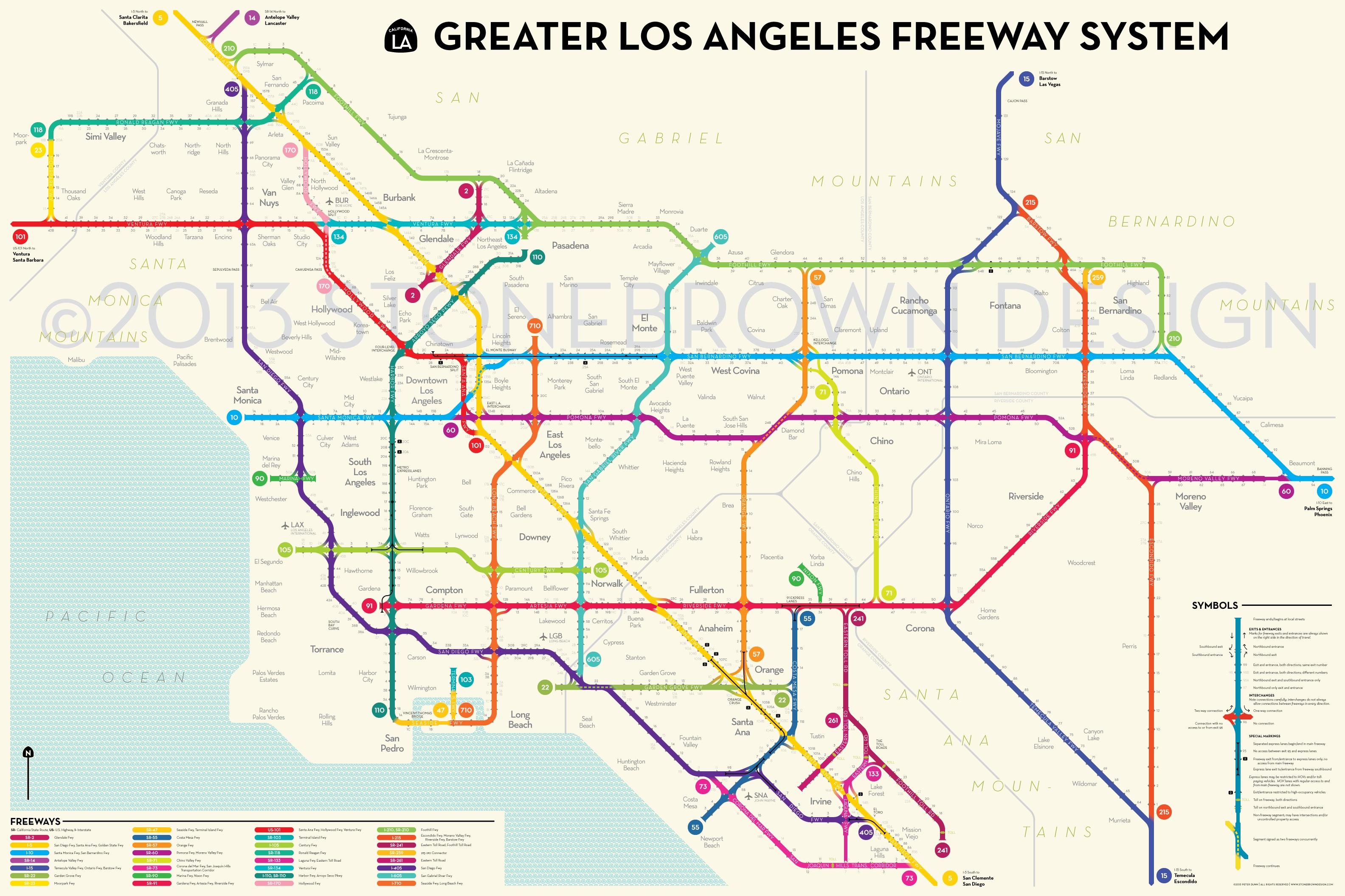 Los Angeles Freeways in Los Angeles Toll Highway