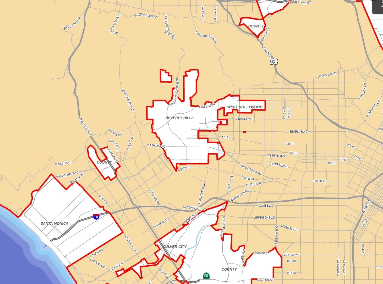 Los Angeles Rent Control in Rent Control Los Angeles Map