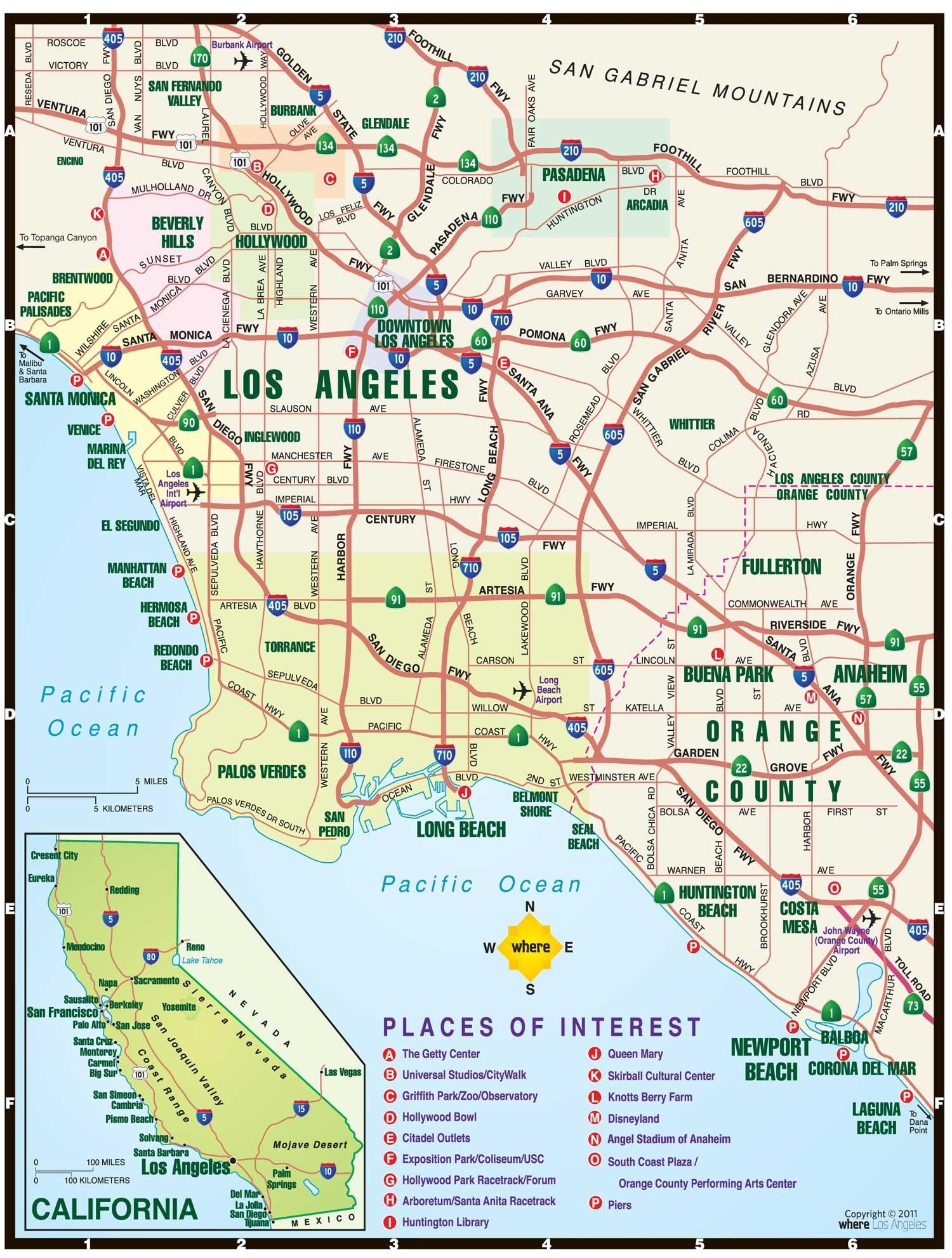 Los Angeles Toll Roads Map - Map Of Los Angeles Toll Roads for California Toll Roads Near Los Angeles