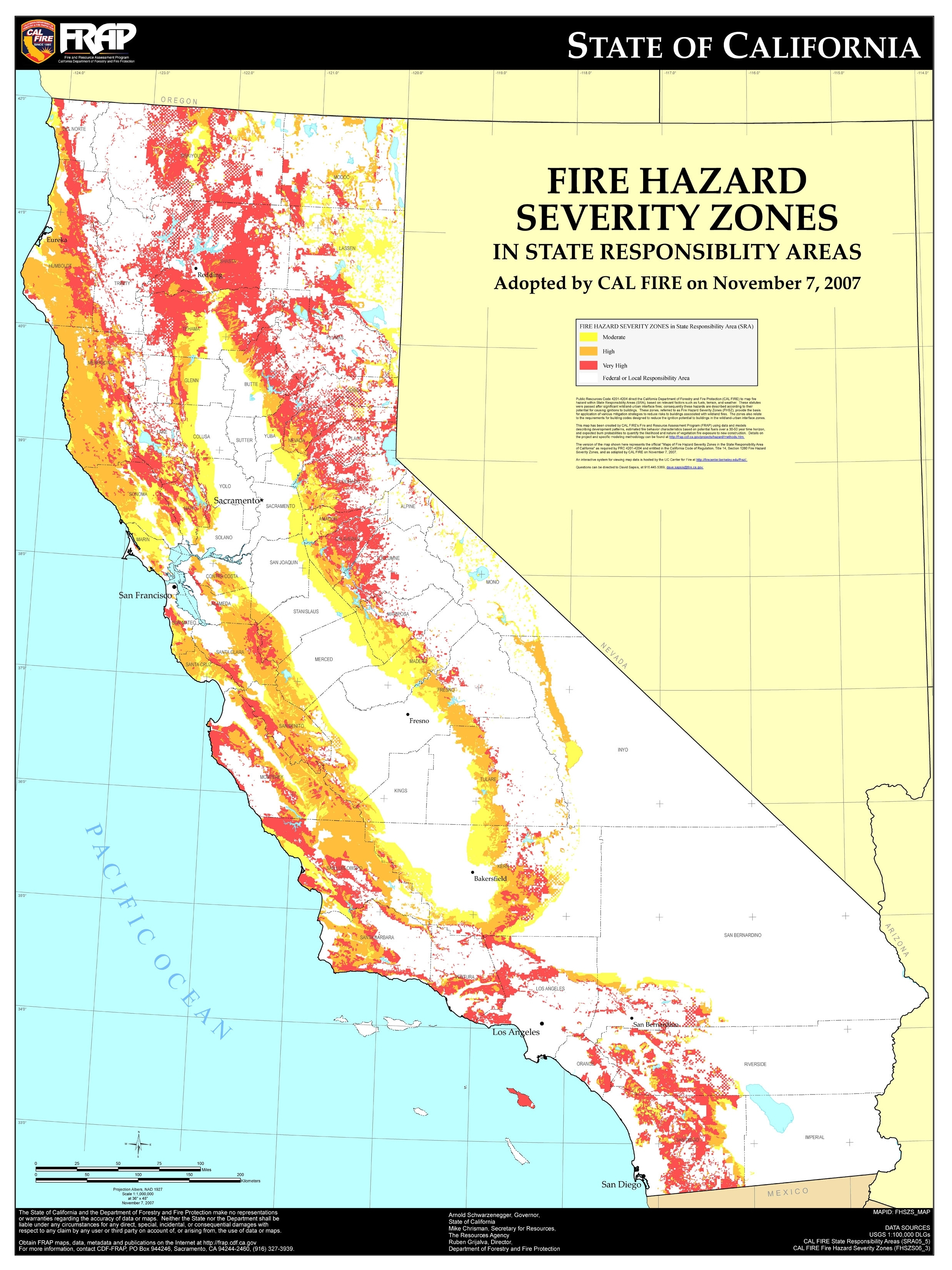 Map Of California Fire Zones | Download Them And Print intended for California Fire Zones