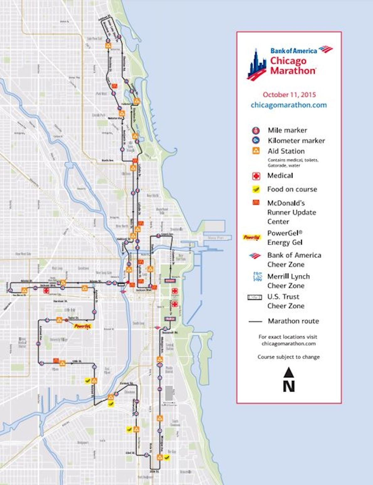 Map Of Chicago Marathon 2018 | Download Them And Print throughout Printable Map Of Chicago Marathon 2019