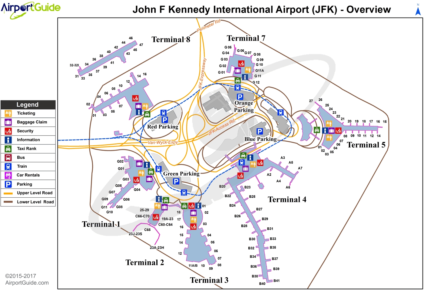 New York - John F Kennedy International (Jfk) Airport regarding New York Jfk Maps