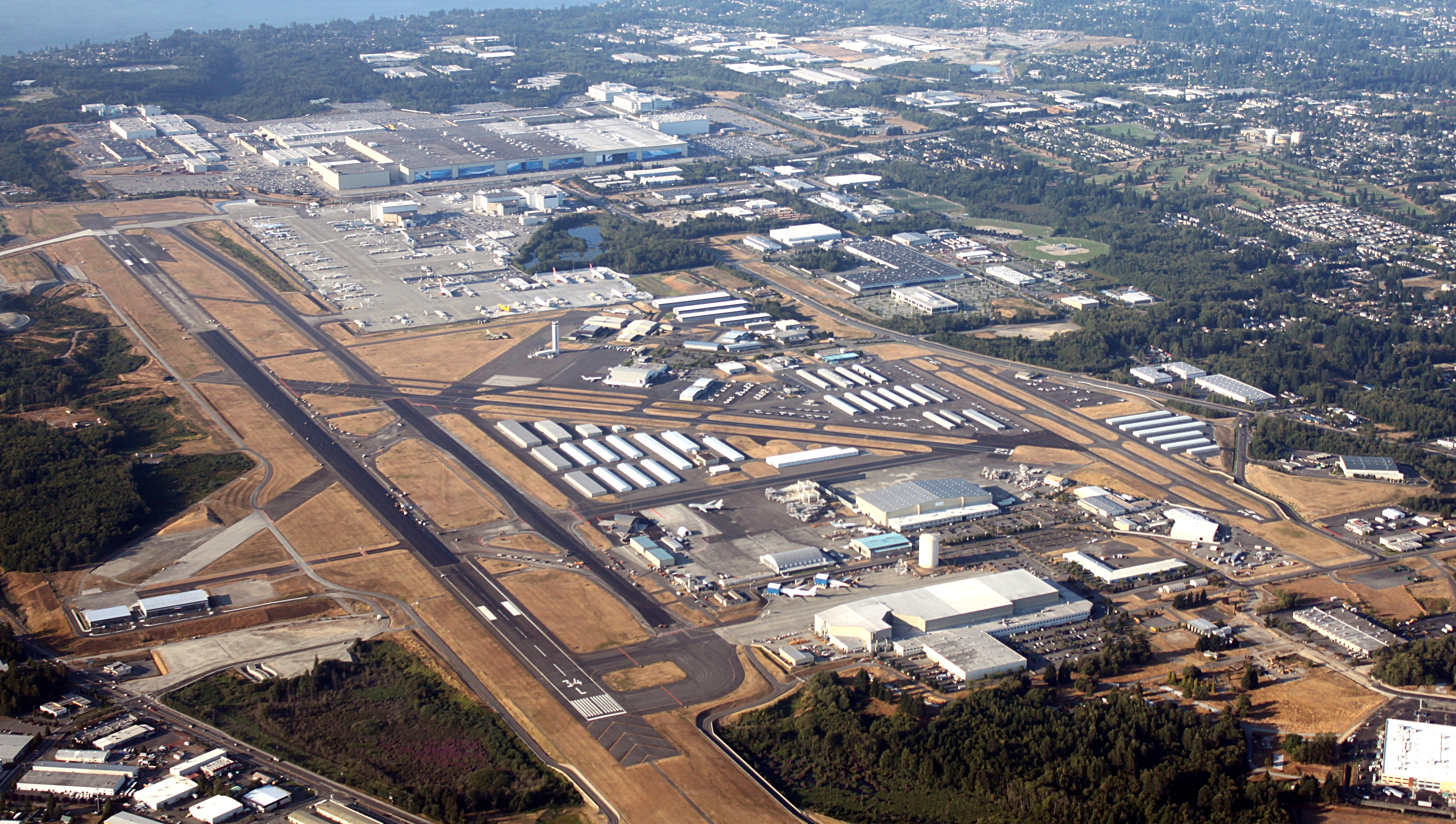 Paine Field - Wikipedia within Boeing Everett Factory Site Map
