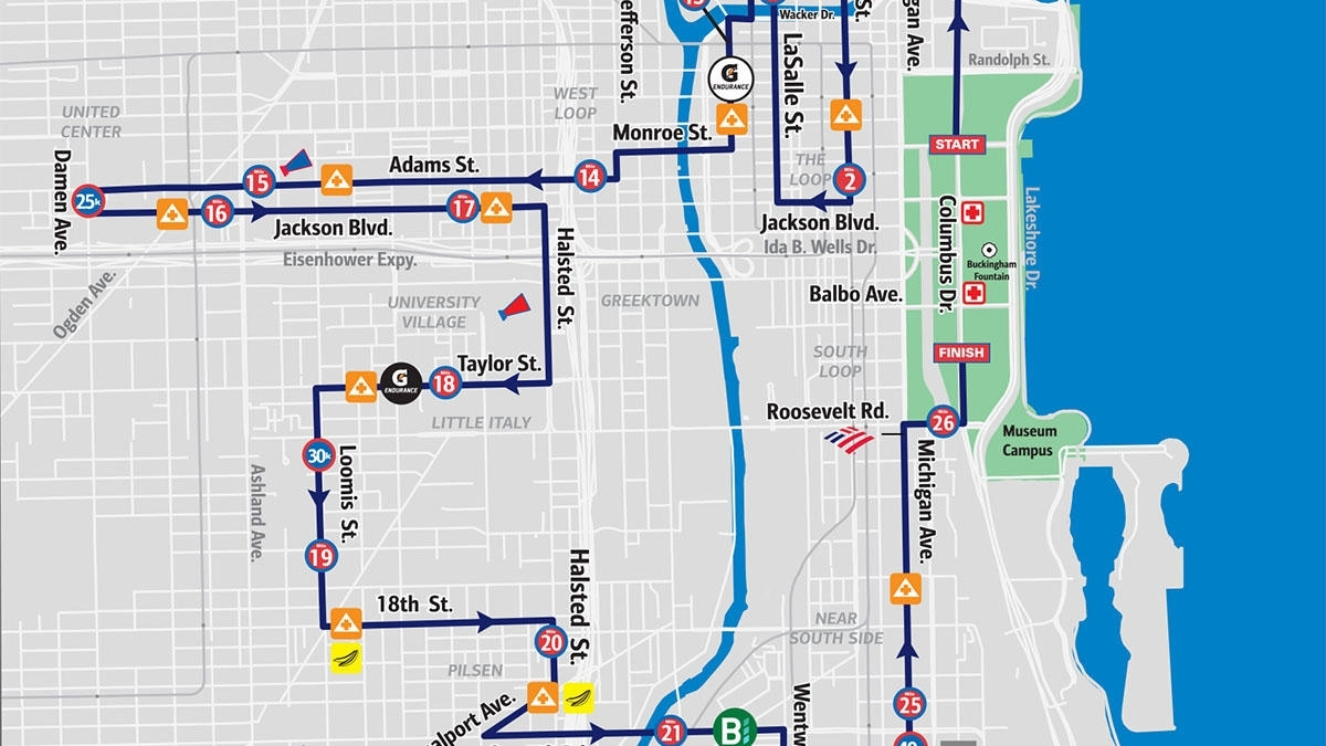 See A Map Of The 2019 Bank Of America Chicago Marathon Route intended for Maps For Chicago Marathon Oct 13, 2019