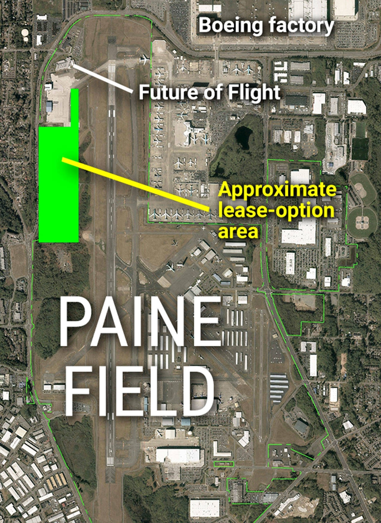 Snohomish County Works To Boost Development Around Airports in Boeing Everett Facility Map