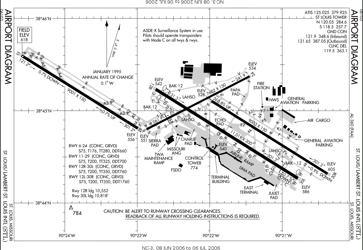 St. Louis Lambert International Airport - Wikipedia intended for Boeing St. Louis Facility Map