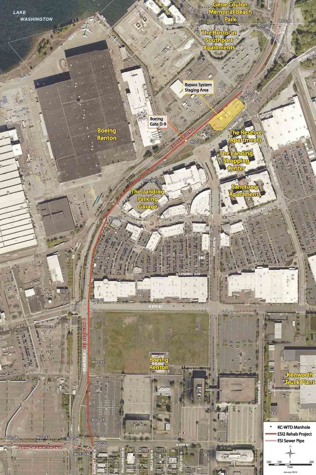 Stantec Leads Construction Management Support Of King regarding Boeing Renton Plant Site Map