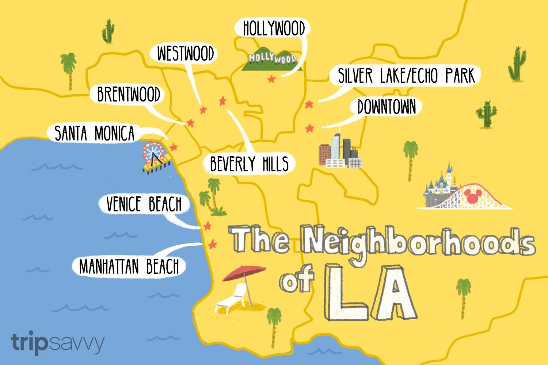 The Neighborhoods Of Los Angeles regarding Downtown La Zip Code Map