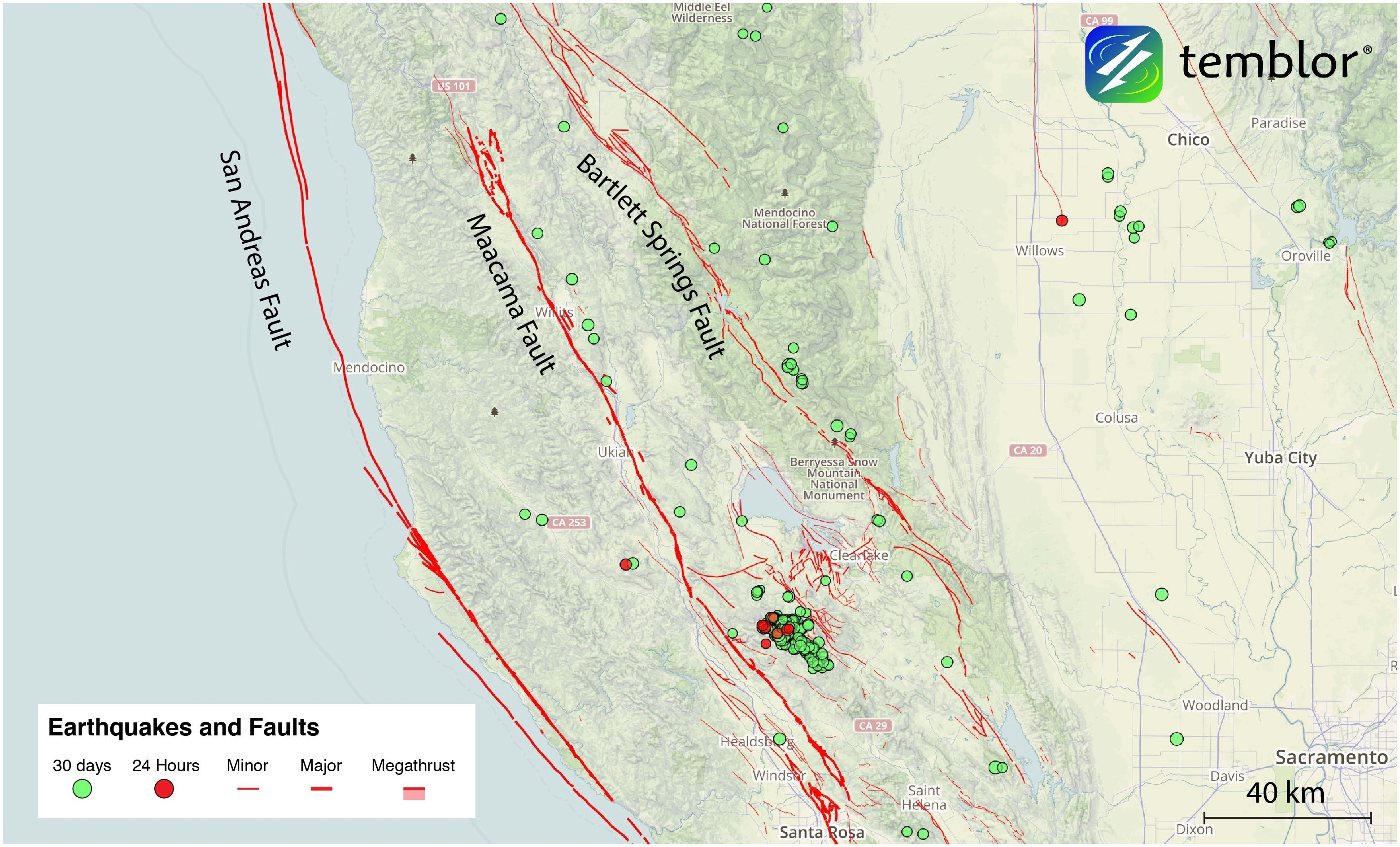 The San Andreas' Sister Faults In Northern California inside California Fault Lines Map
