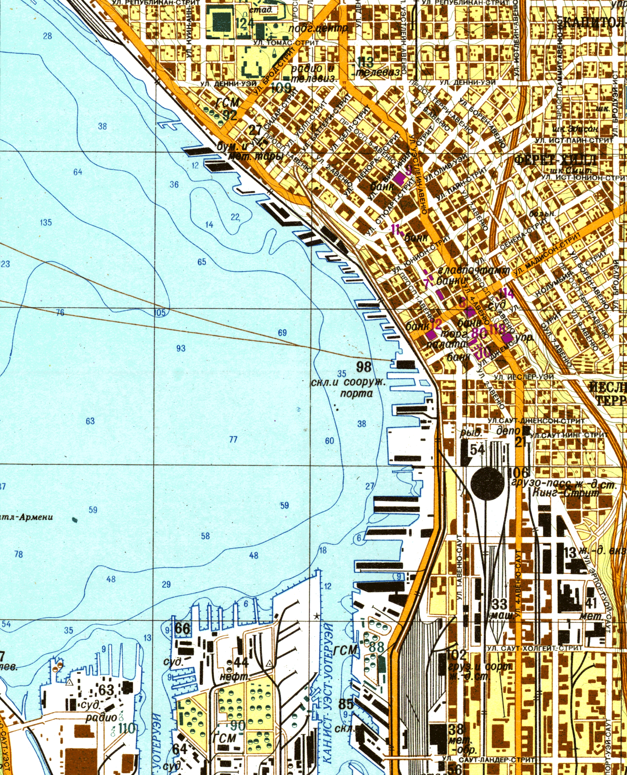 The Soviets' Secret Map Of Seattle Tells A Lot About Us inside Boeing Facility Map