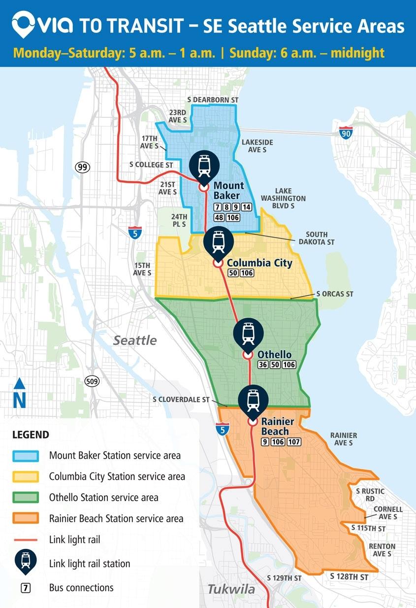 Via To Transit - King County Metro Transit - King County regarding Boeing Renton Plant Map