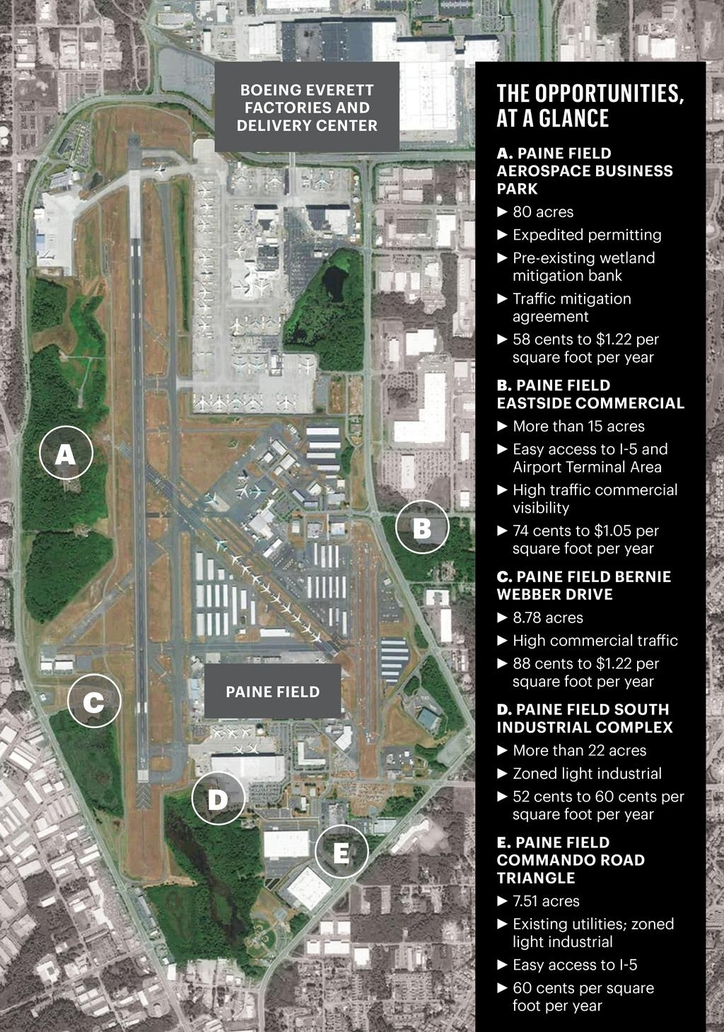 Want To Buildboeing? Paine Field Has Land Development with regard to Boeing Factory Everett Map