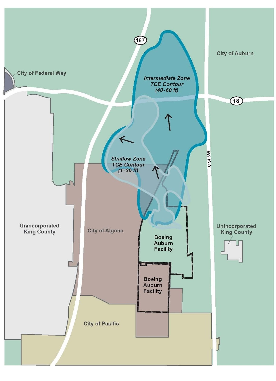 Washington Department Of Ecology: Cleaning Up: Bacteria To in Boeing Facility Map