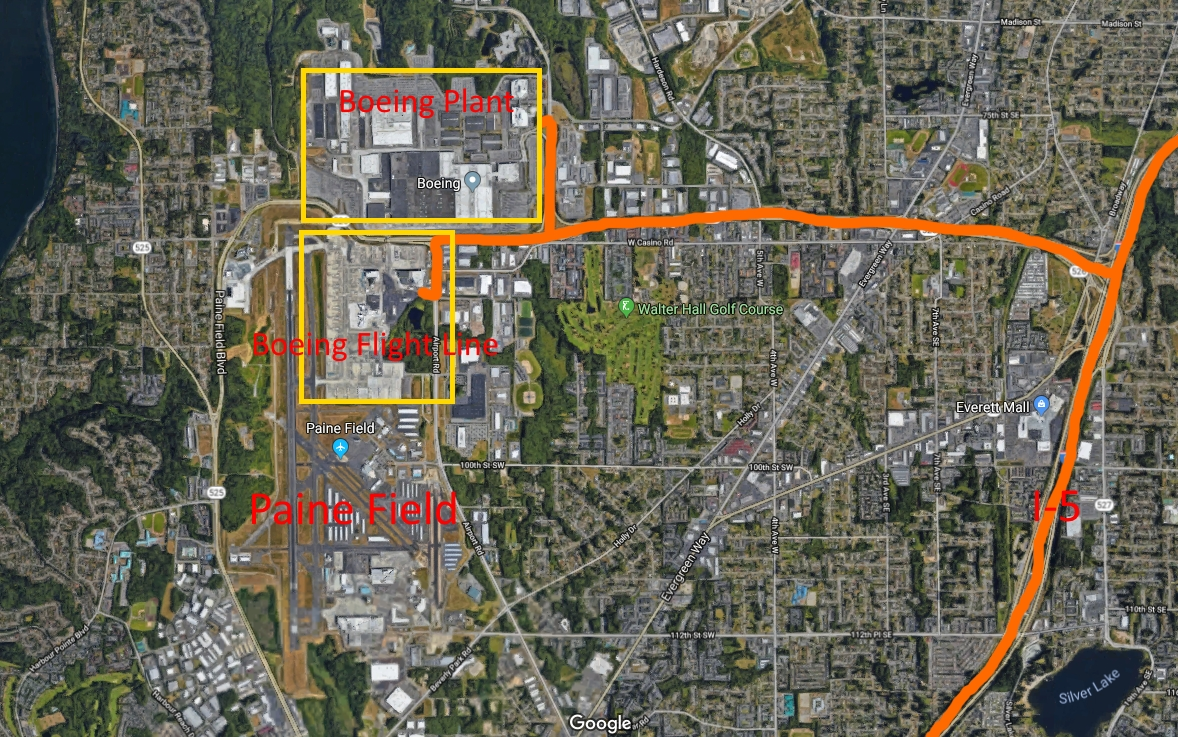 Washington Pre-Research & Rework Tips - Page 4 - Scs Software inside Boeing Renton Factory Map