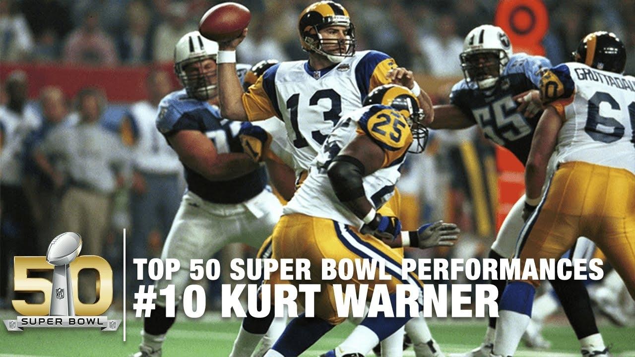#10: Kurt Warner Super Bowl Xxxiv Highlights | Rams Vs. Titans | Top 50 Sb  Performances with regard to Rams Titans Super Bowl