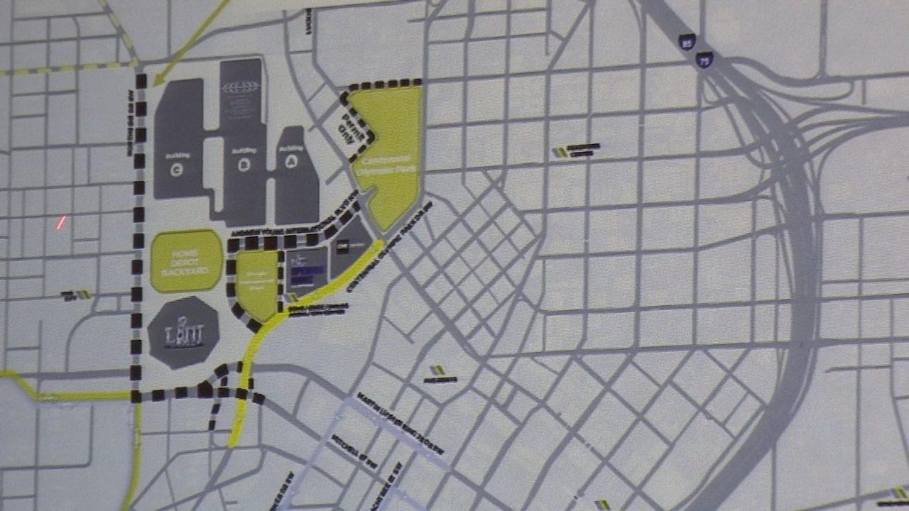 14 Major Roads In Atlanta To Be Affectedsuper Bowl inside Super Bowl Map Atlanta
