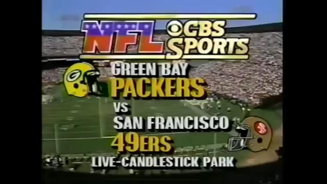 1989-11-19 Green Bay Packers Vs San Francisco 49Ers(Majkowski Vs Montana) throughout San Francisco 49Ers Nfl Championships 1989