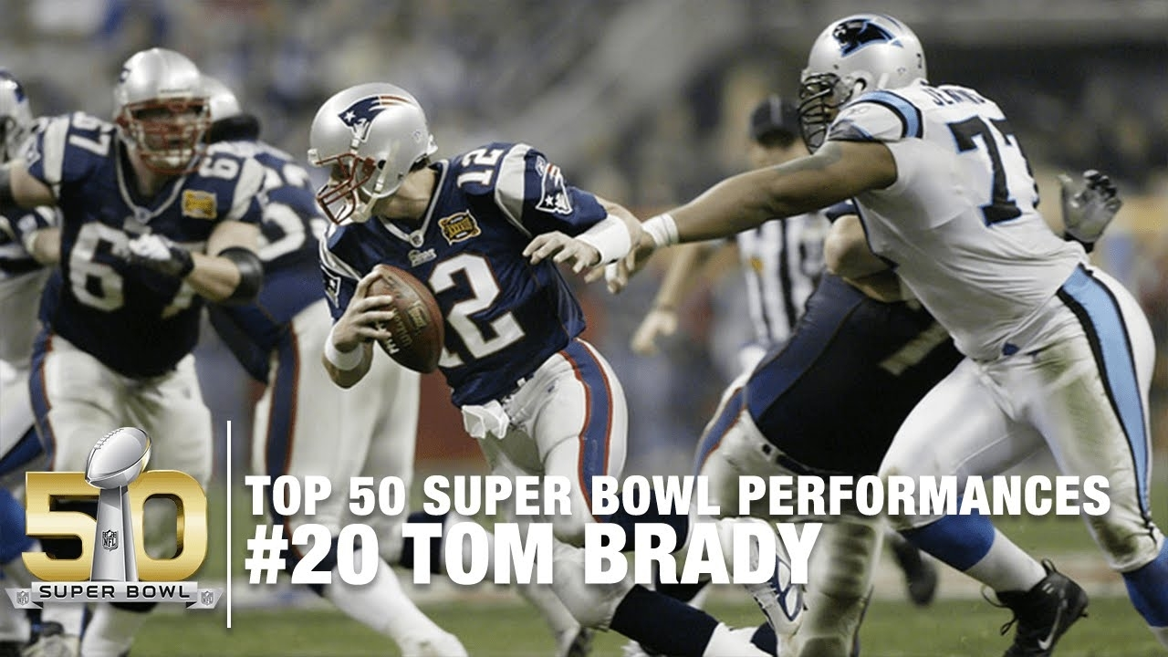 #20: Tom Brady Sb Xxxviii Highlights   Panthers Vs Patriots   Top 50 Super  Bowl Performances for Patriots Panthers Super Bowl