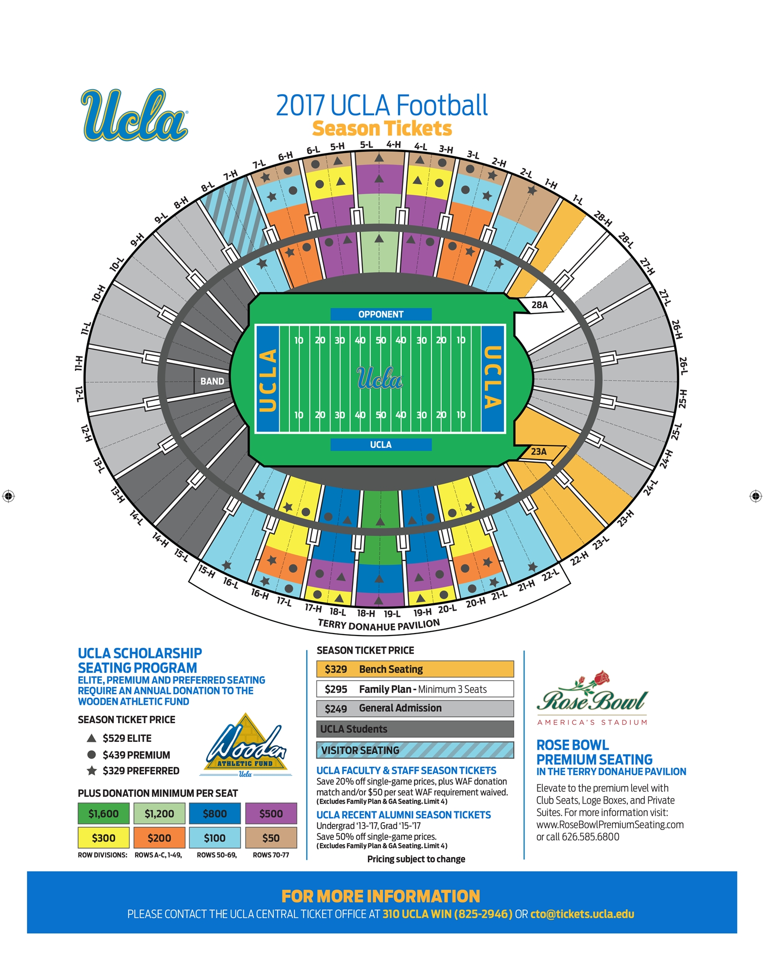 2017 Select-A-Seat Rose Bowl - Ucla in Super Bowl Seat Map