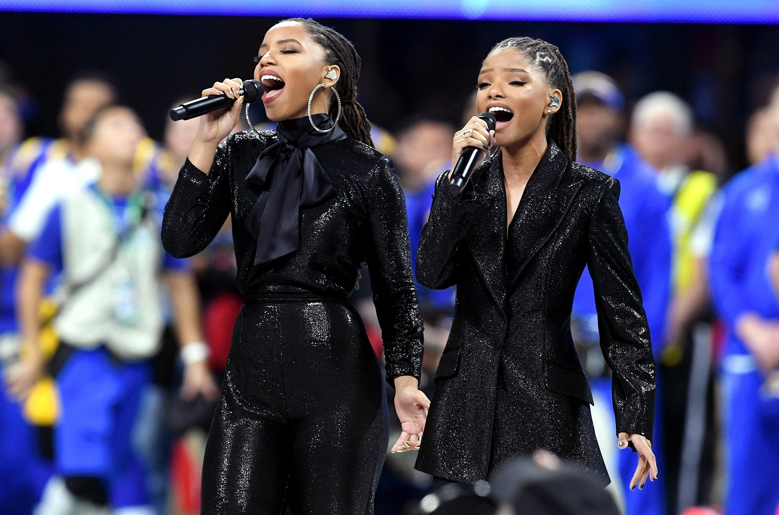 2019 Super Bowl: Chloe X Halle Perform 'america The in America The Beautiful Super Bowl 2019