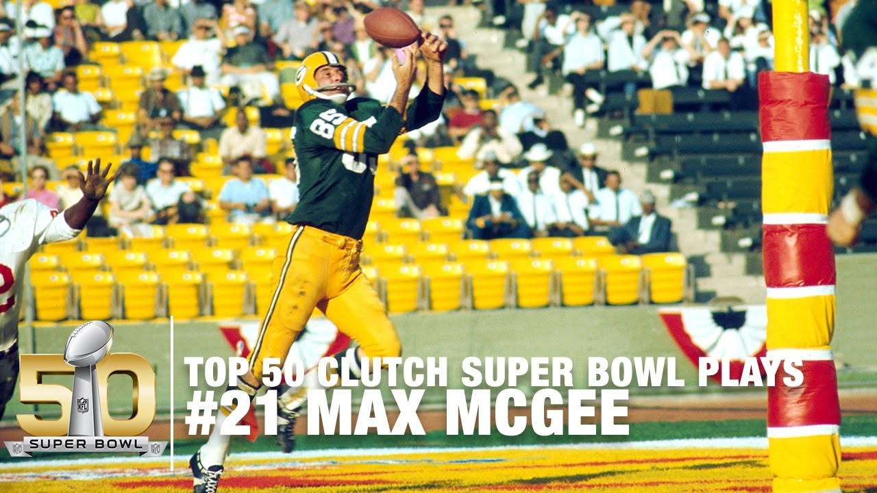#21: Max Mcgee Scores The First Super Bowl Td Super Bowl I | Top 50 Clutch  Super Bowl Plays with The First Super Bowl