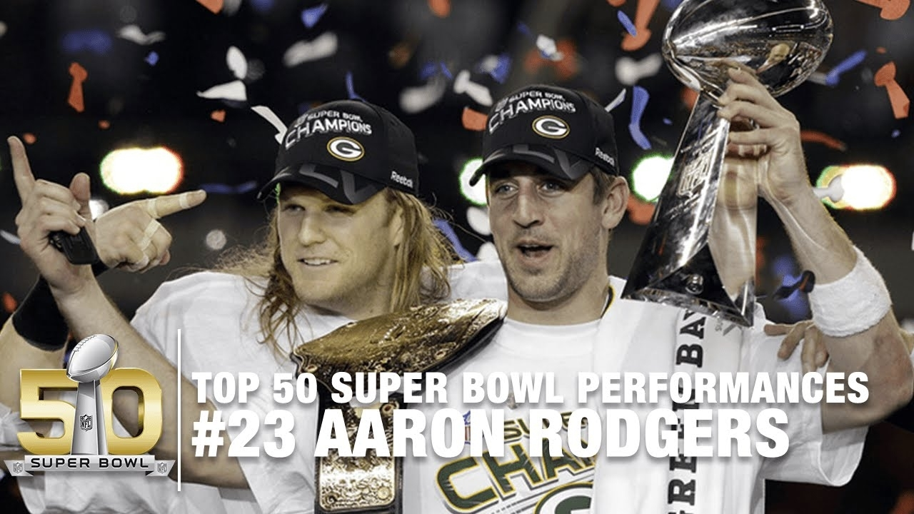 #23: Aaron Rodgers Super Bowl Xlv Highlights | Top 50 Super Bowl  Performances within Aaron Rodgers Super Bowl