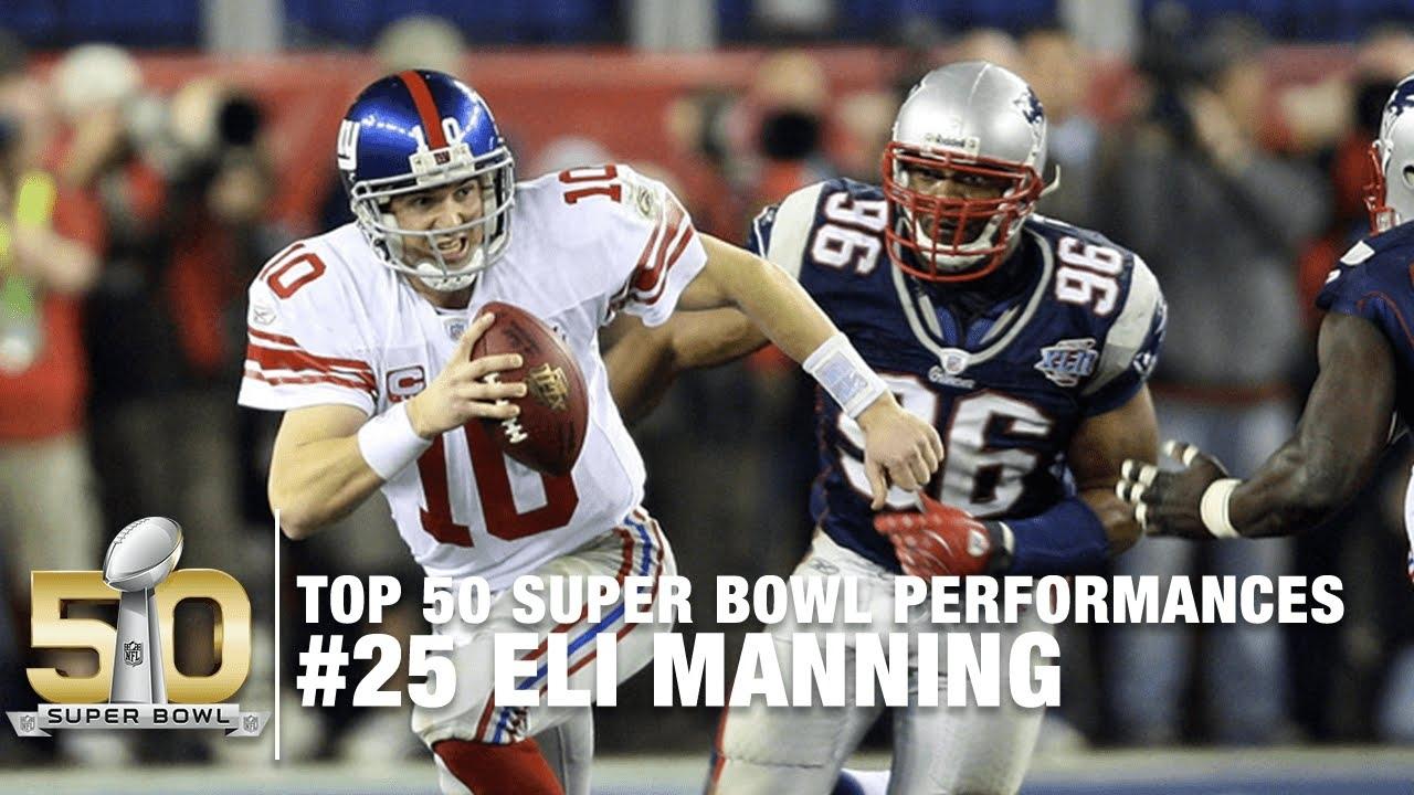 #25: Eli Manning Super Bowl Xlii Highlights   Top 50 Super Bowl Performances pertaining to Eli Manning Super Bowl