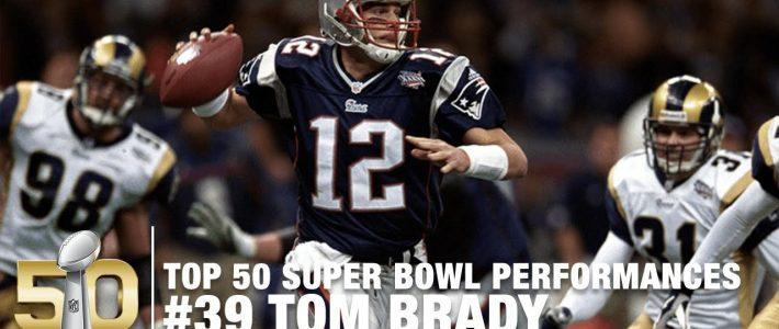 #39: Tom Brady's First Super Bowl (Xxxvi) Highlights   Top 50 Super Bowl  Performances inside Tom Brady First Super Bowl