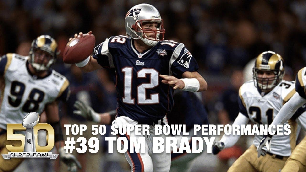 #39: Tom Brady's First Super Bowl (Xxxvi) Highlights | Top 50 Super Bowl  Performances with regard to Brady First Super Bowl