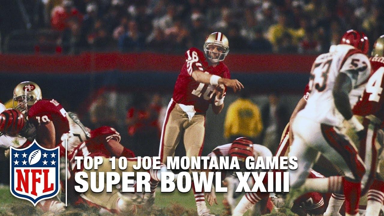 #4: Super Bowl Xxiii | Top 10 Joe Montana Games Of All Time | Nfl Films throughout Joe Montana Super Bowl